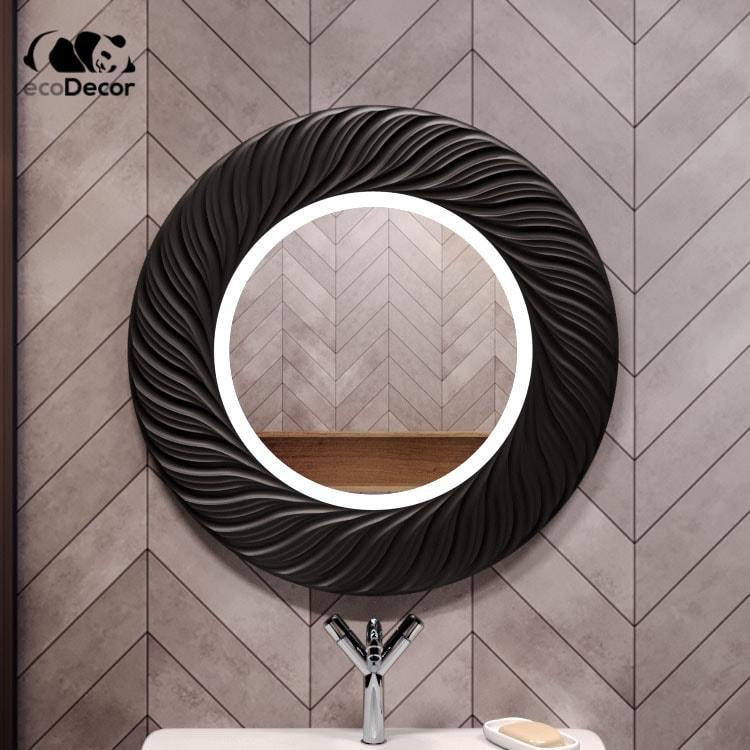 Зеркало в ванную черное Vienna K2