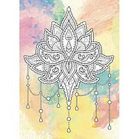 Дзен рисование Цветок лотоса Антистресс раскраска DZ079