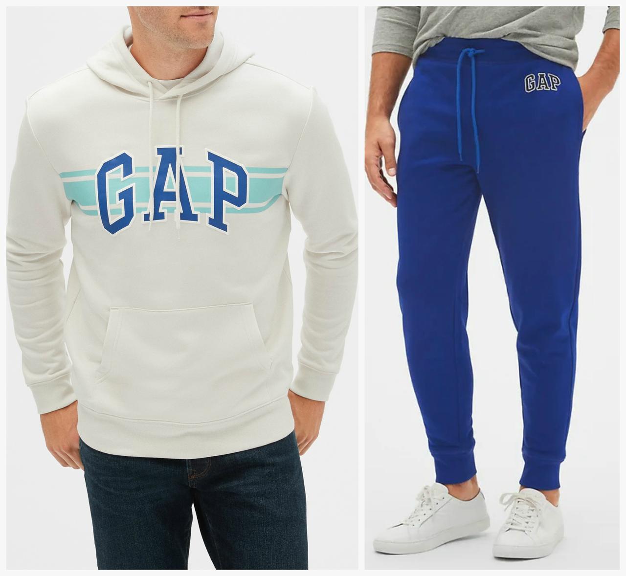 Мужской спортивный костюм размер XL GAP толстовка и джоггеры штаны