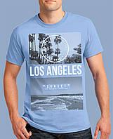 Красивая мужская летняя футболка с рисунком «LOS ANGELES» 100% хлопок, качественная