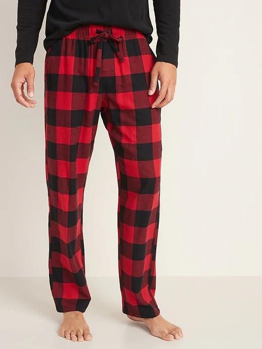 Мужские фланелевые штаны Old Navy США красные с рисунком пижама домашние XXL