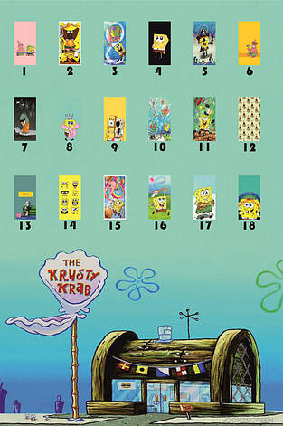 Чехол силиконовый Sponge Bob для всех моделей Huawei, фото 2