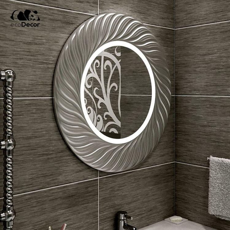 Зеркало с подсветкой серебряное Vienna