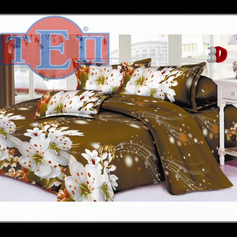 Качественное постельное белье ТЕП  RestLine 100  «Вишневый цвет» 3D дешево от производителя., фото 2