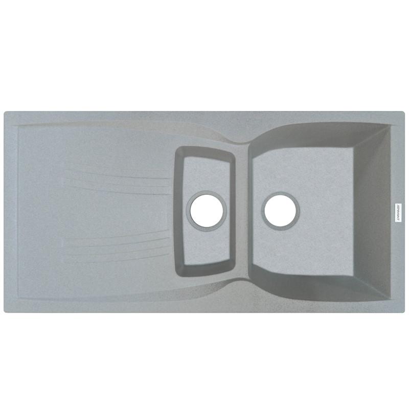 Гранитная мойка Adamant NEW LINE PLUS 980х500х238 09 светло-серый