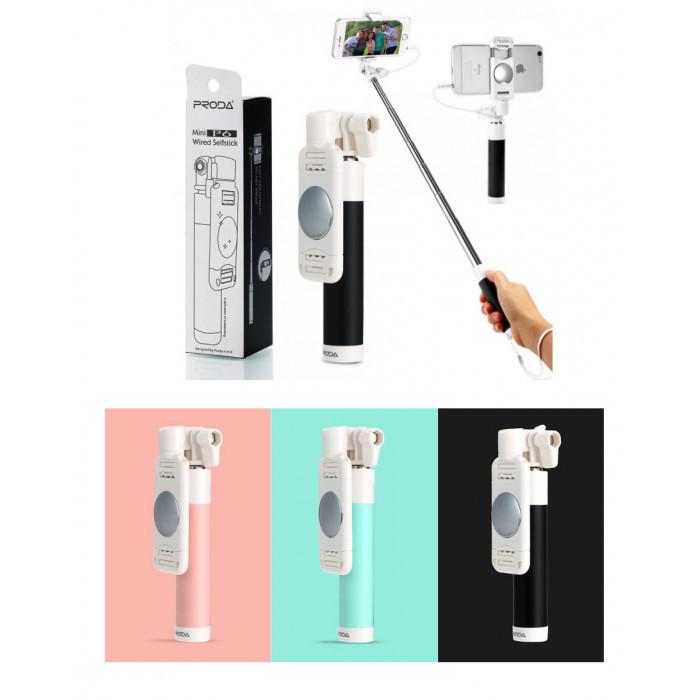 Монопод Remax ProdaPP-P6 AUX selfie stick черный