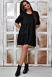 Повсякденне плаття ніжне асиметричне трапеція (6 кольорів, р. S-XL), фото 5