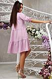 Повсякденне плаття ніжне асиметричне трапеція (6 кольорів, р. S-XL), фото 4