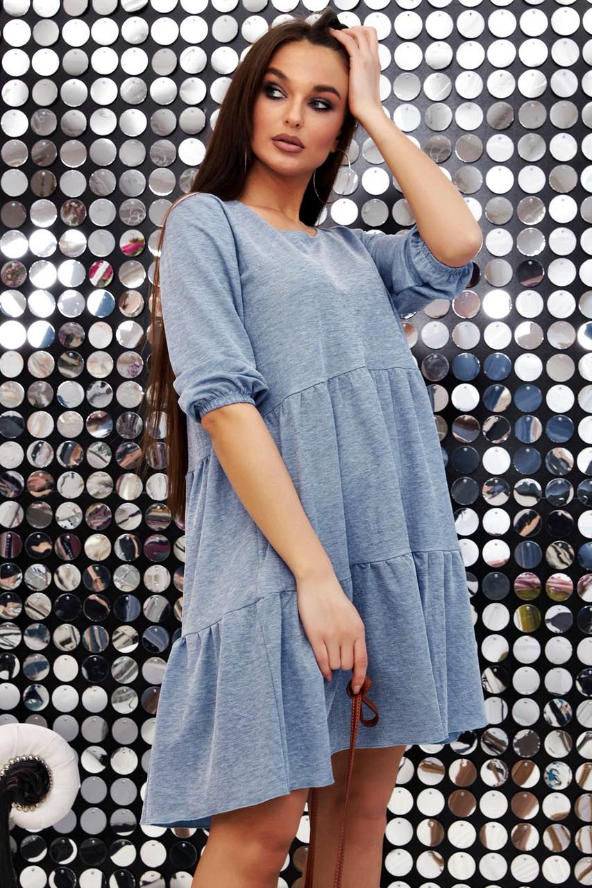 Повсякденне плаття ніжне асиметричне трапеція (6 кольорів, р. S-XL)