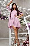 Повсякденне плаття ніжне асиметричне трапеція (6 кольорів, р. S-XL), фото 3