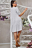 Повсякденне плаття ніжне асиметричне трапеція (6 кольорів, р. S-XL), фото 7