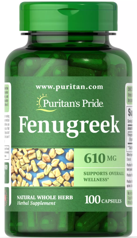 Бустер тестостерона Puritan's Pride - Fenugreek 610 мг (100 капсул)