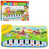 Коврик развивающий детский Пианино, муз, звуки животных, свет