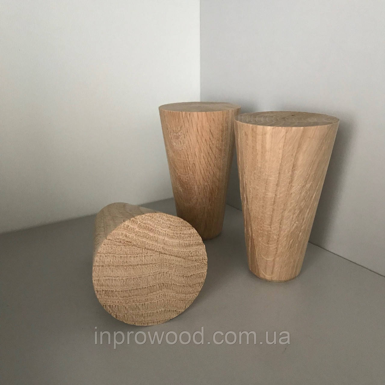 Деревянная мебельная ножка, мебельная опора Дуб 100 мм