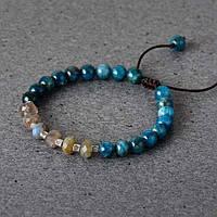 "Браслет з натуральними каменями ""Синє море"", фото 1"