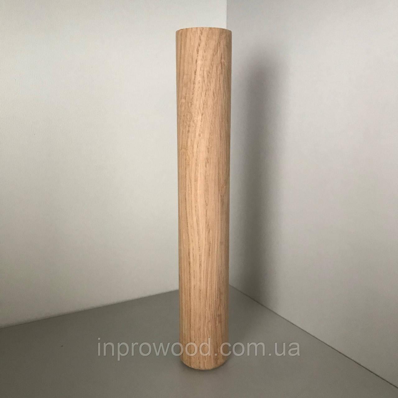 Деревянная мебельная ножка, мебельная опора Цилиндр Дуб 200 мм