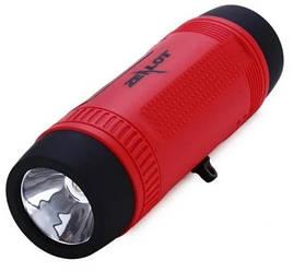 Беспроводная колонка Zealot S1 Bluetooth Фонарик Радио (Красный)