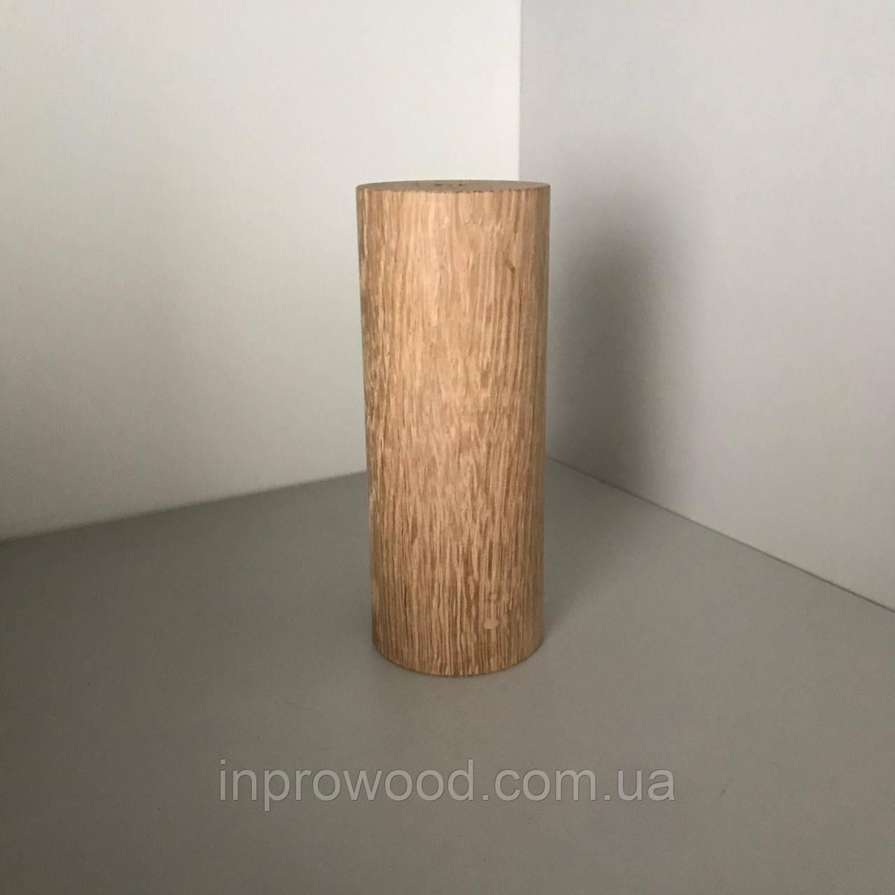 Дерев'яна меблева ніжка, меблева опора Дуб 120 мм