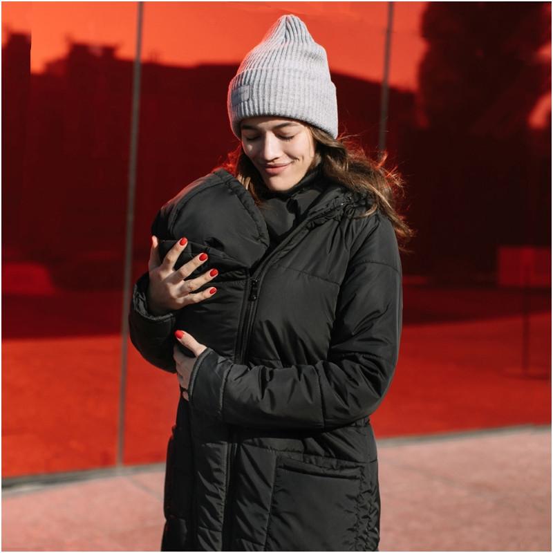 Зимняя слингокуртка LOVE & CARRY 3 в 1 (размер 34, чёрный)