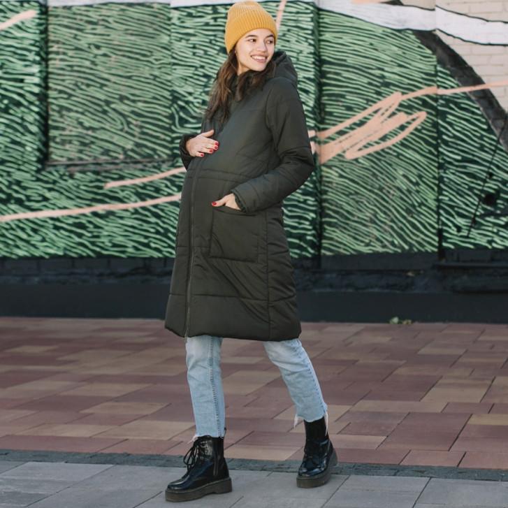 Зимняя слингокуртка LOVE & CARRY 3 в 1 (размер 34, оливковый)