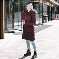 Зимняя слингокуртка LOVE & CARRY 3 в 1 (размер 38, бордовый), фото 1