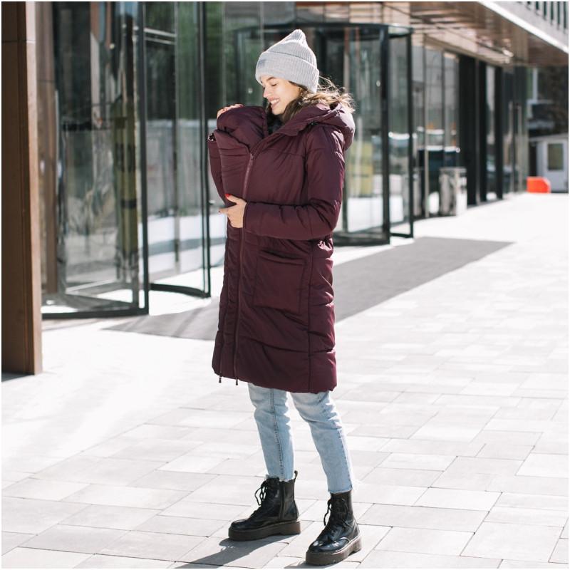 Зимняя слингокуртка LOVE & CARRY 3 в 1 (размер 38, бордовый)