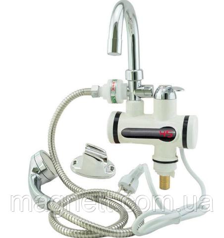 Проточний водонагрівач електричний на кран Rapid з душем
