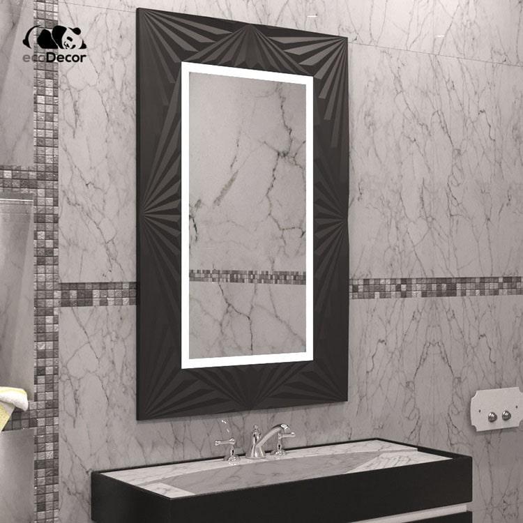 Дзеркало у ванну чорне Adelaide P2