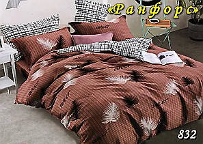 Комплект постельного белья Тет-А-Тет (Украина) полуторный  ранфорс (832)