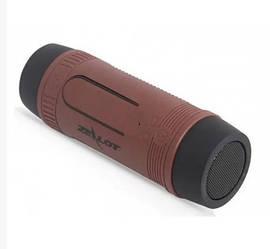 Беспроводная колонка Zealot S1 Bluetooth Фонарик Радио (Коричневый)
