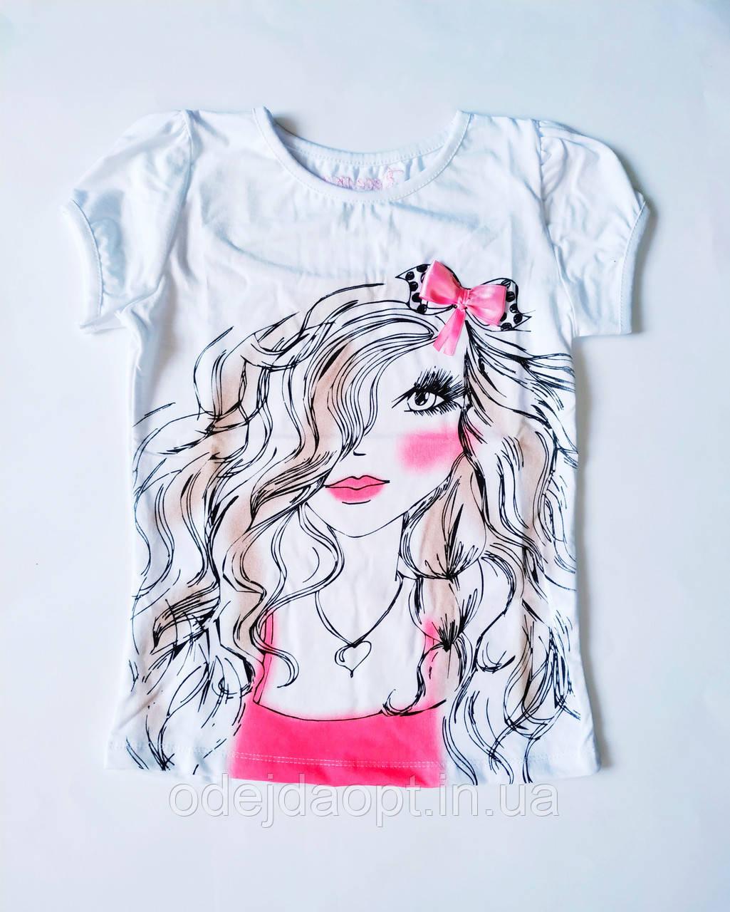 Подростковая футболка  для девочки 9,10,11,12 лет