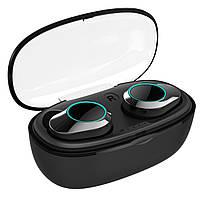 Беспроводные наушники Bluetooth гарнитура KUMI T5S Black IPX7 Блютуз 5.0 с зарядным кейсом (3804-10628) С влагозащитой