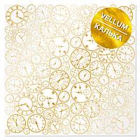 Калька з фольгуванням - Golden Clocks - Fabrika Decoru  - 30x30