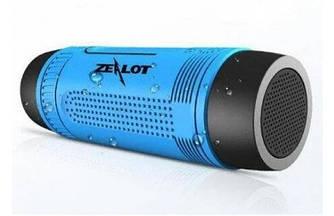 Беспроводная колонка Zealot S1 Bluetooth Фонарик Радио (Синий)