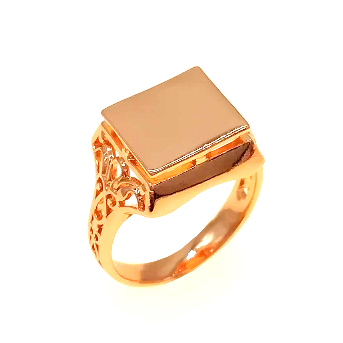 Мужское кольцо (печатка) Xuping из медицинского золота, позолота 18K, 11872       (23)