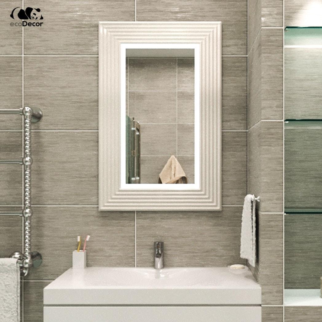 Зеркало в ванную белое Alanno