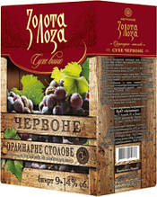 Золота лоза червоне сухе вино 3 л