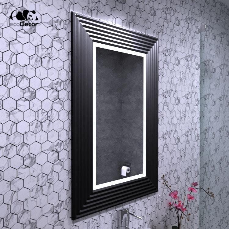 Зеркало с подсветкой черное Alanno