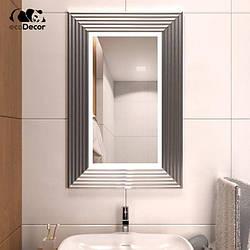 Дзеркало з підсвічуванням срібне Alanno P2