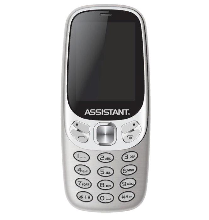 Кнопочный телефон ассистент с дизайном нокиа на 2 сим карты Assistant AS-203 Silver