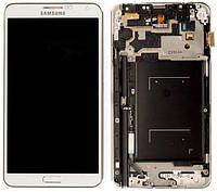 Дисплей (экран) для телефона Samsung Galaxy Note 3 Neo Duos N7500, N7502, N7505 + Touchscreen with frame (copy) White