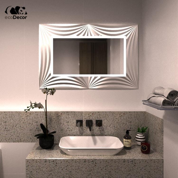 Зеркало в ванную серебряное Amaro