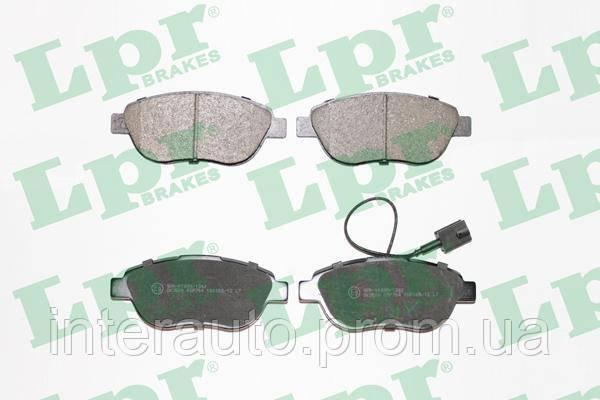 Купить Тормозные колодки, Колодки тормозные передние большие Fiat Doblo 2005- LPR 05P764 (77364599)