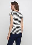 Топ H&M полоска чёрно-белого вискоза, фото 2