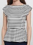 Топ H&M полоска чёрно-белого вискоза, фото 3
