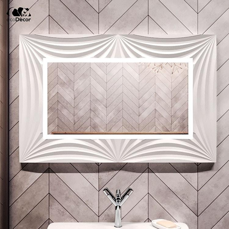 Зеркало в ванную белое Amaro