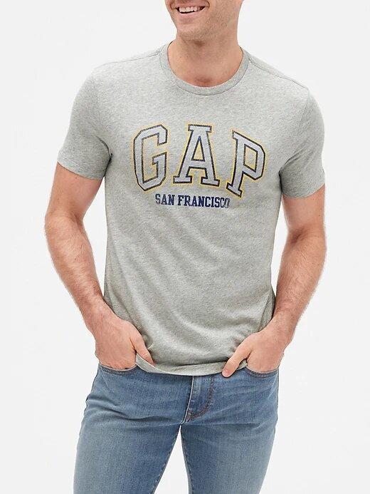 Футболка серая мужская GAP оригинал футболки мужские