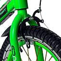 Велосипед двухколесный 16 дюймов 1686-16 салатовый со светящейся рамой и корзинкой, фото 2