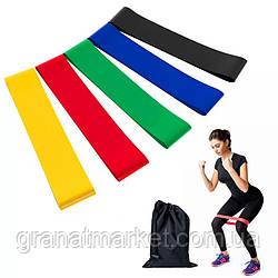Резинки для фитнеса Bavarsport 5 шт. в чехле (GS07393)