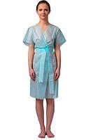 Одноразовый халат без рукавов с пояском размер L